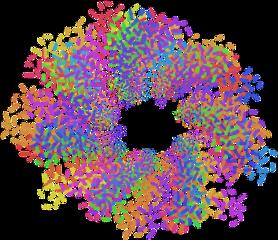 sprinkles rainbow spiral tunnel freetoedit