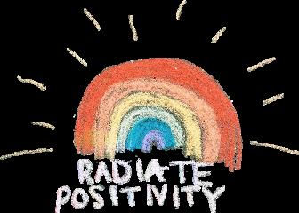 chalk art chalkboard rainbow radiate freetoedit