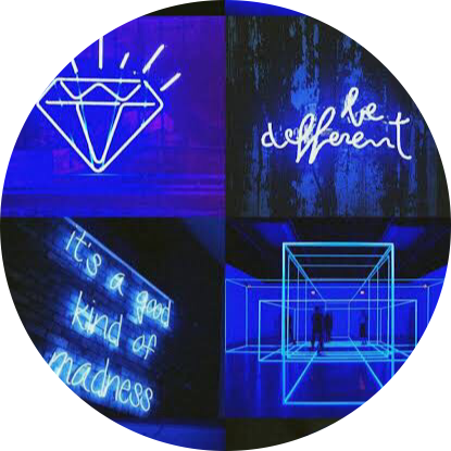 💙 blue neon aesthetic circle background