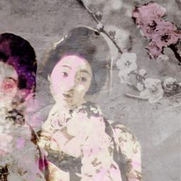 sakura kimono art collage freetoedit