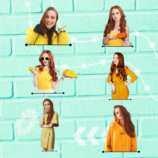 Madelaine in yellow 💛    #madelainepetschedits #madelainepetsch #cherylblossom #cheryl #riverdale #yellow #mint #aesthetic #spring 🌻