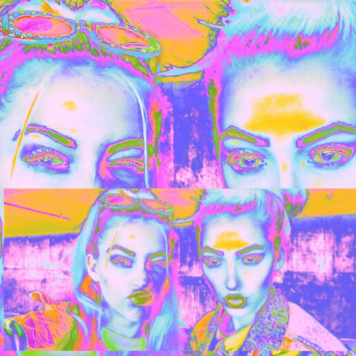 #holographic #twins #selfie #cool #creative #freetoedit