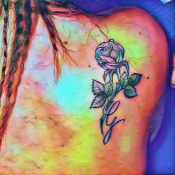 tattoo tattooart tatuaje tatuaggio rosa