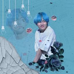 tae bts blue aesthetic taehyung freetoedit