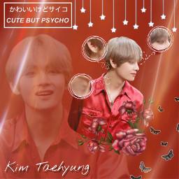 taehyung red anatomy aesthetic bts freetoedit