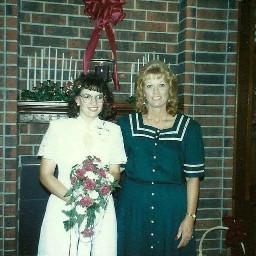tbtuesday me mymom sherry myweddingday