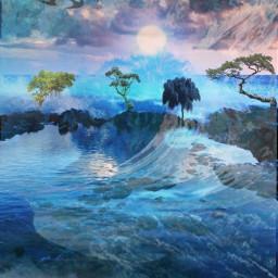 freetoedit landscape fantasyart allpicsart doubleexpesure