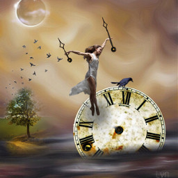 freetoedit clock time awesome surreal