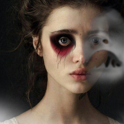 face girl ghost redeye interesting