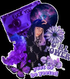 billieeilish billie eilish purple viola freetoedit