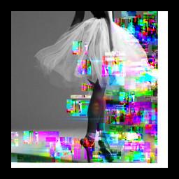 freetoedit sofiacarson glitchbrush glitchart ballet
