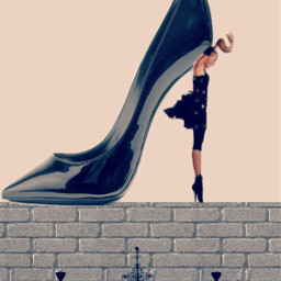 fashion shoe highheel editedwithpicsart surreal freetoedit
