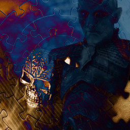 darkart_saturday doubleexposure skull got remixed