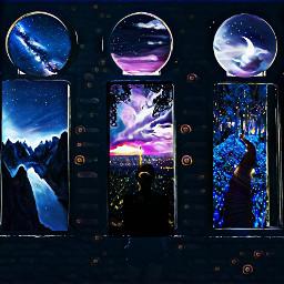 freetoedit stars nightphotography portals yio ircintothegreen