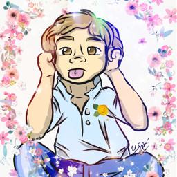 kid drawing flowers sparkles adobeillustratordraw