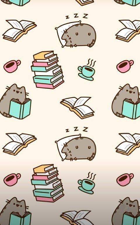 Pusheen Cat Wallpaper Freetoedit Pusheen Cat Book Sleep