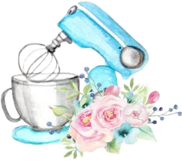 watercolor handpainted mixer kitchenaid cooking freetoedit