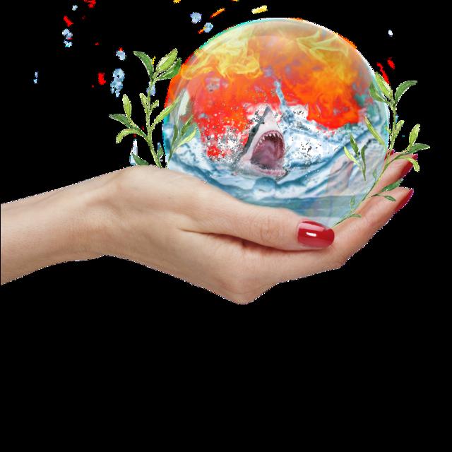 #fireandwater #bubble #shark #hand
