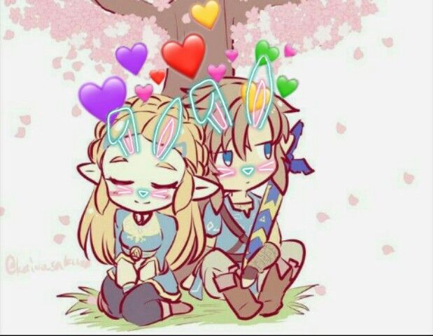 Botw Cute Link Zelda Srceasterbunny Eltioqmuevelacabeza