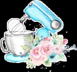 freetoedit watercolor mixer flowers baking