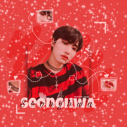 ateez seonghwa ateezseonghwa red anatomy freetoedit