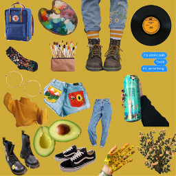 freetoedit moodboard arthoeaesthetic yellowbackground