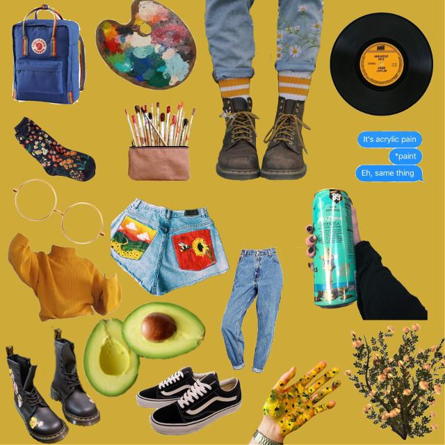 #freetoedit #moodboard #arthoeaesthetic #yellowbackground