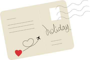 postcard travel vacation siteseeing multicolor freetoedit
