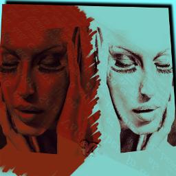 people doubleexposurecontest overlayed beauty popartcolor