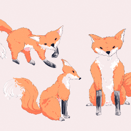 foxes drawing digitalart commissionsopen animals