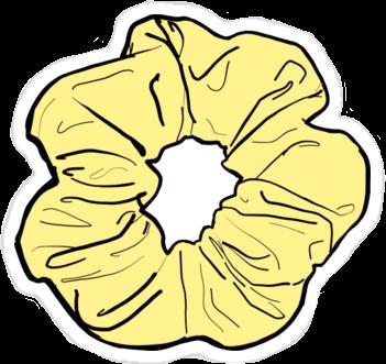 Scrunchie Yellow Yellowscrunchie Aesthetic Interesting