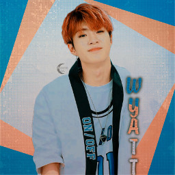 onf wyatt kpop blue orange