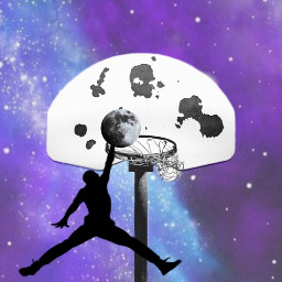 ircshootinghoops shootinghoops freetoedit moon galaxy
