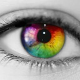rainbow eyesrainbow eccolorsplasheffect colorsplasheffect