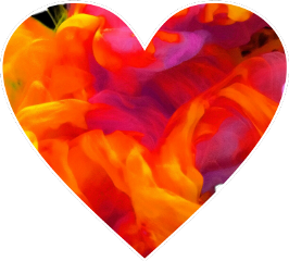 sccolorfulsmoke colorfulsmoke heart smoke orange