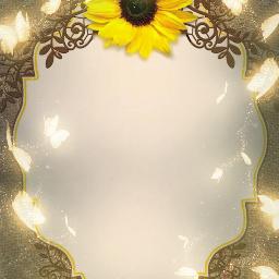 sunflower invitation card burlap butterflyoverlay freetoedit