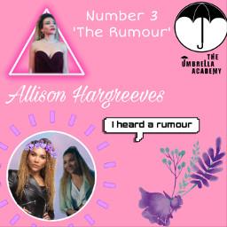 allisonhargreeves therumour number3 iheardarumour theumbrellaacademy