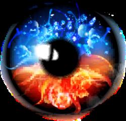 eye element red blue beautiful freetoedit