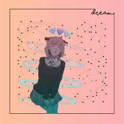 gradient pinkgradient bluegradient gradientcolors animegirl freetoedit