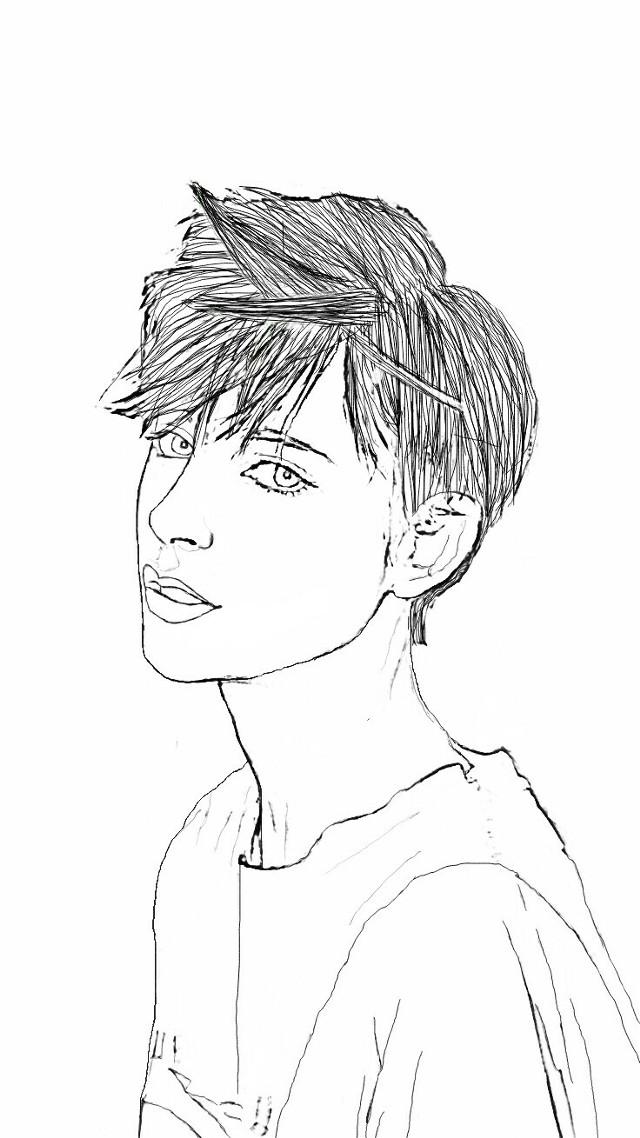 #freetoedit #sketching #sketcher #sketched #blackandwhite #people #potrait #girl #boy