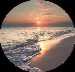 beach sunrise sunset circleoverlay circle freetoedit