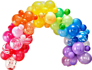 balloons colorful arch rainbow freetoedit