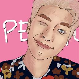 freetoedit fanartkpop drawing btsrapmonsternamjoon