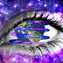 freetoedit challenge eye earth stars