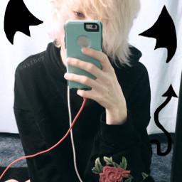 devil littledevil soft softboy blond freetoedit
