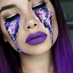 freetoedit eyes galaxygirl galaxy galaxyeyes ecgalaxymakeup