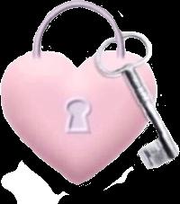 messy cute heart key lock freetoedit