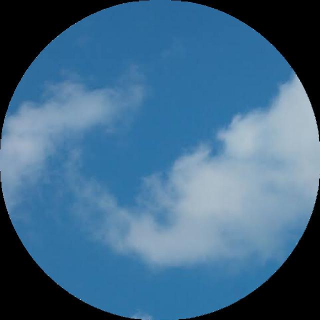 ☁️  #cloud #circle #aesthetic #background #sky #blue #freetoedit