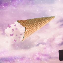 freetoedit cloudicecream oops butterflies sparkle