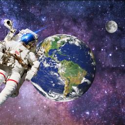 ircplanetearth planetearth freetoedit astronaut earth